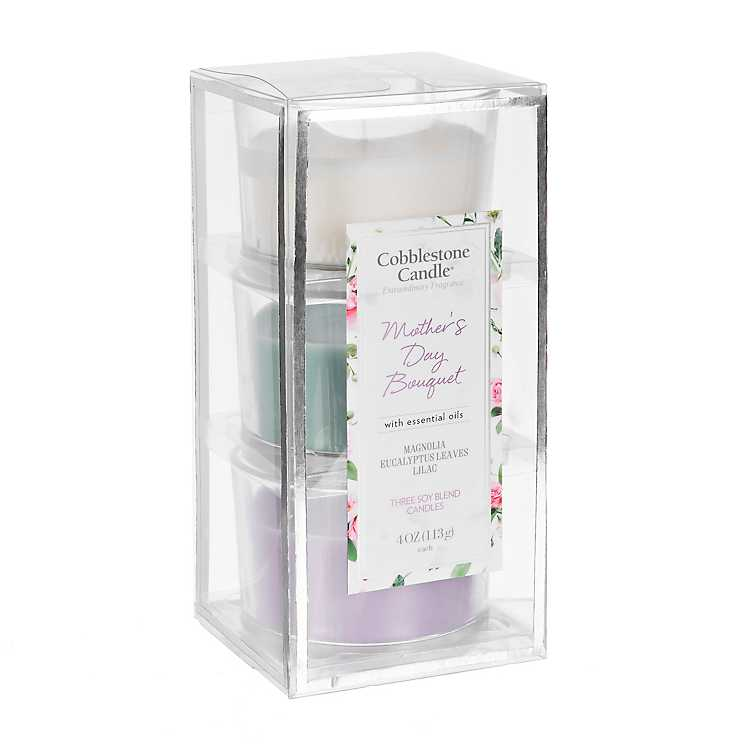 Product Details Mother's Day Bouquet 3-pc  Candle Gift Set