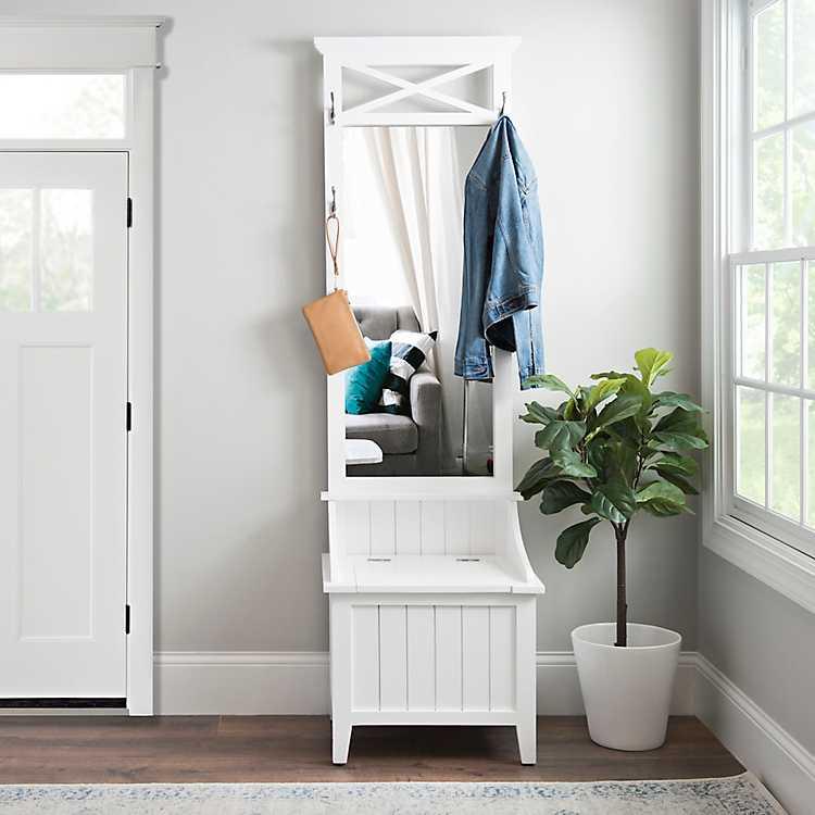 Product Details White Mud Room Shelf