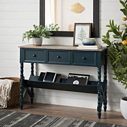 Blue Sofa Table | Baci Living Room