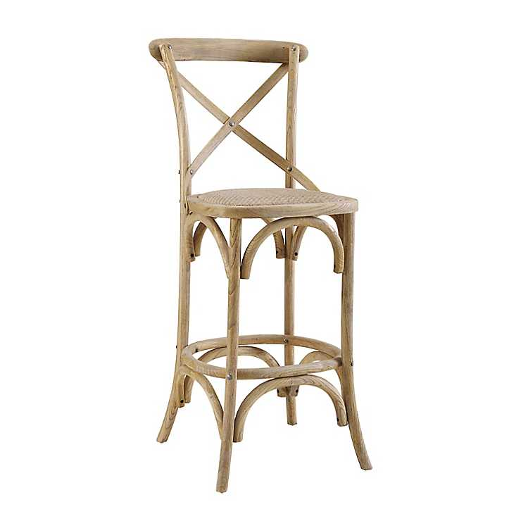 Incredible Tate X Back Gray Wash Counter Stool Creativecarmelina Interior Chair Design Creativecarmelinacom