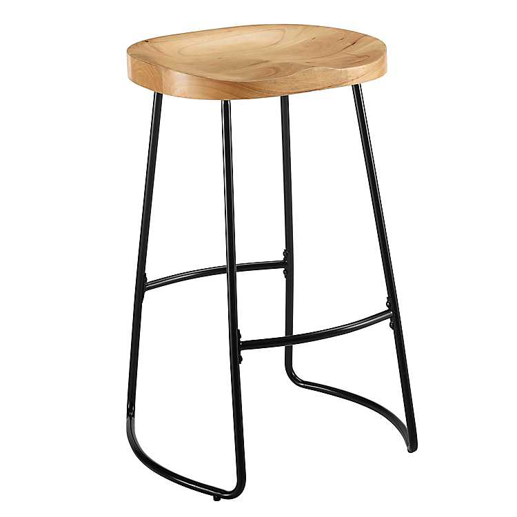 Awe Inspiring Tractor Wood Seat Metal Base Bar Stool Creativecarmelina Interior Chair Design Creativecarmelinacom