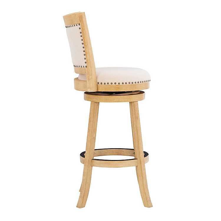 Enjoyable Tifton Natural Wood Swivel Bar Stool Uwap Interior Chair Design Uwaporg