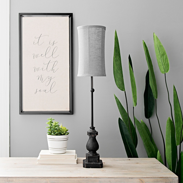 Black Margot Candlestick Buffet Lamp