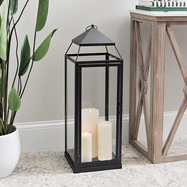 Black Modern Metal Lantern