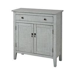 Arabelle 2 Door Distressed Gray Cabinet