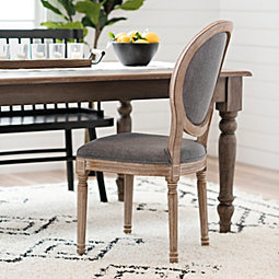 Warm Gray Louis Dining Chair