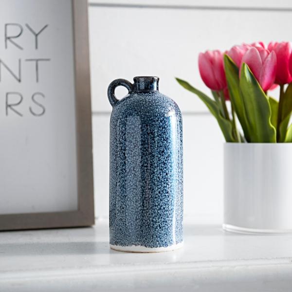 Blue Speckle Jug Vase