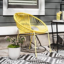 Yellow Metal And Vinyl Chair