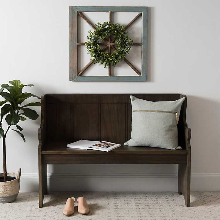 Fantastic Dark Finish Wood Pew Bench Andrewgaddart Wooden Chair Designs For Living Room Andrewgaddartcom