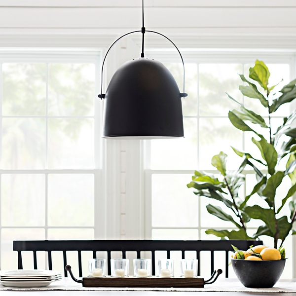 Satin Black Metal Warner Pendant Light