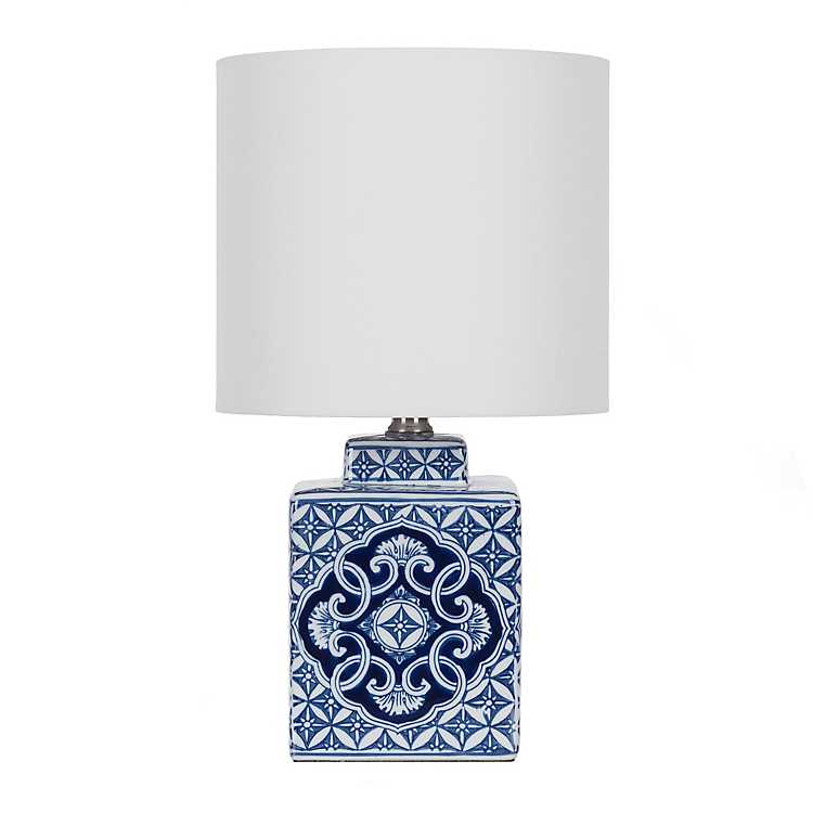 Petra Blue And White Ceramic Table Lamp
