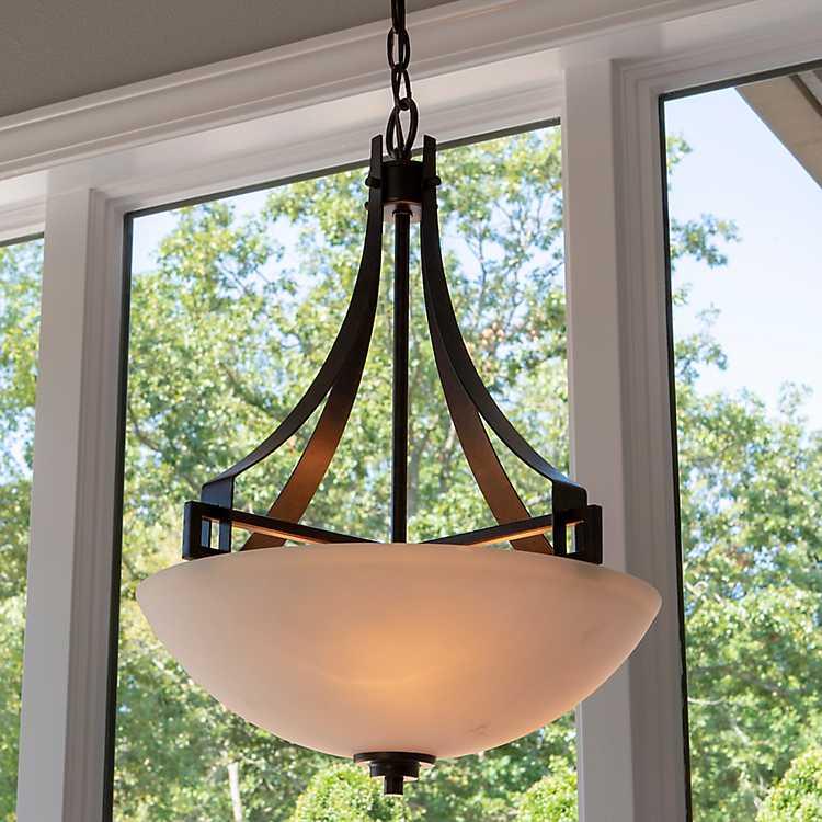 Craftsman Style 3 Bulb Pendant Light