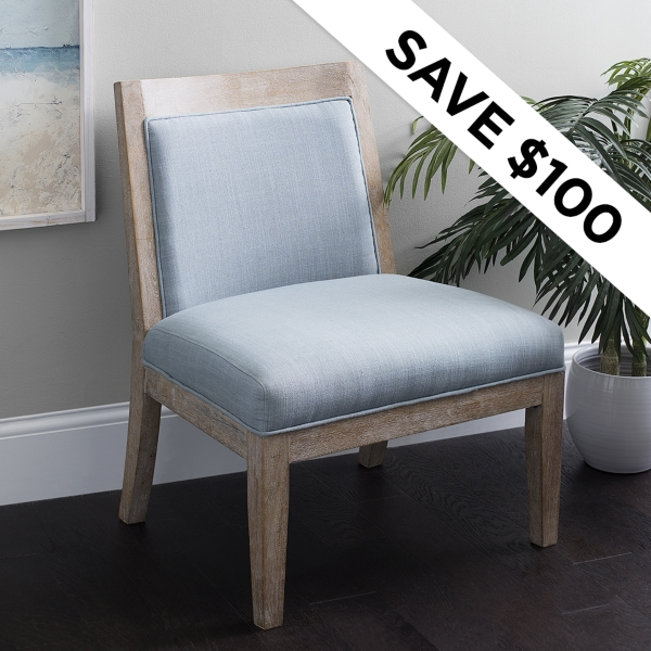 Save $100 - Coastal Accent Chair - Was: $299.99 - Now $199.99