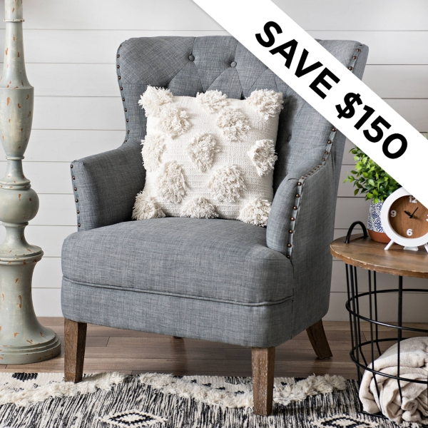 Save $150 - Tufted Accent Chairs - Was: $499.99 - Now $349.99