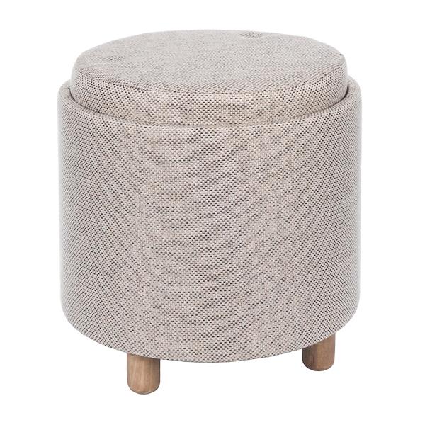 Fine Beige Fabric Storage Ottoman With Tray Kirklands Ibusinesslaw Wood Chair Design Ideas Ibusinesslaworg