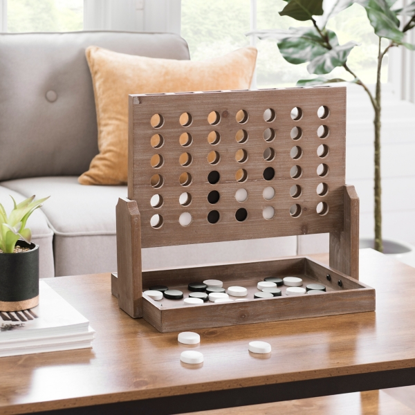 Wood Connect 4 Game