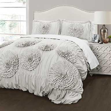 Light Gray Serena 3-Piece Comforter Set