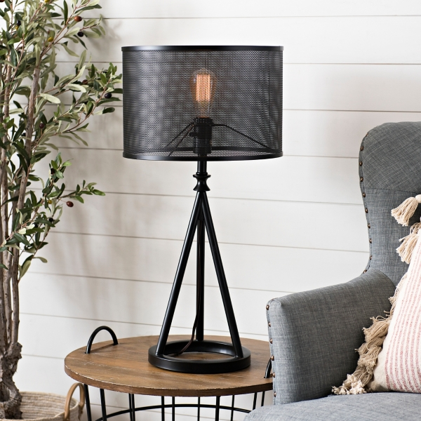 Black Dex Metal Table Lamp