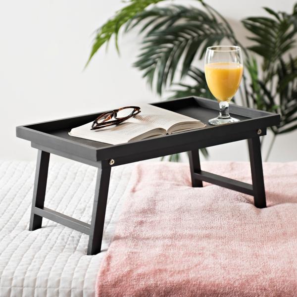 Black Folding Bed Tray