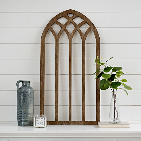 Natural Wood Tone Wall Arch