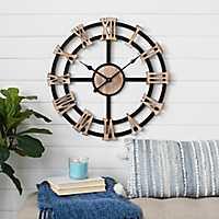 Danby Rustic Wood Wall Clock