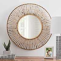 Rattan Circle Wall Mirror