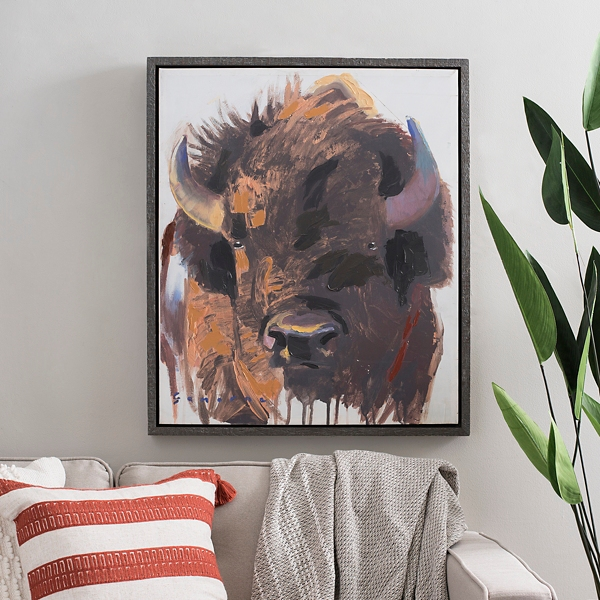 Wild Bison Framed Art Print
