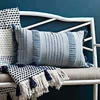Navy Berri Stripe Accent Pillow
