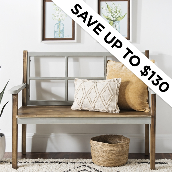 Save Up to $130 - Gray Windowpane Furniture - Shop Now