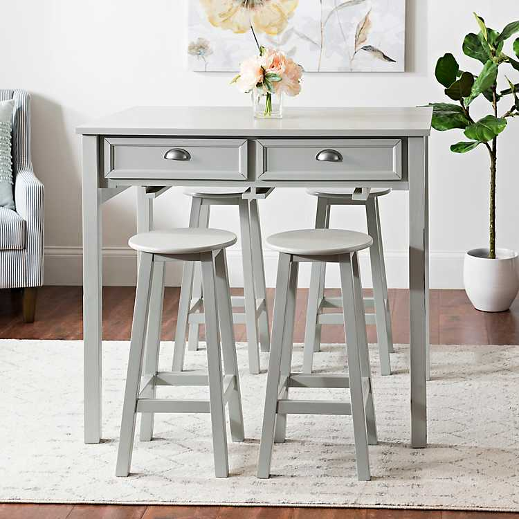 Console Kitchen Table with Stools