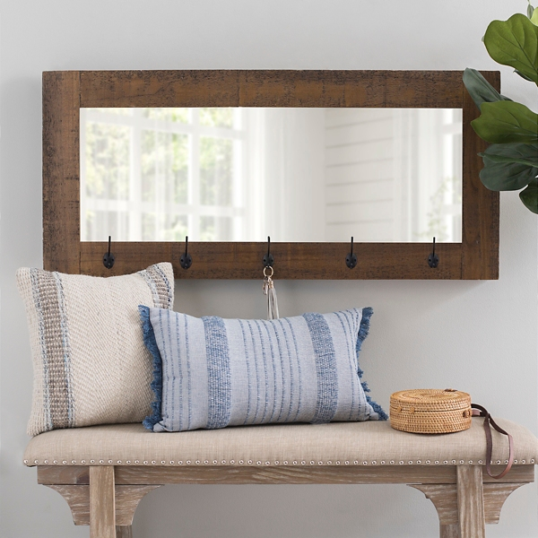 Betsy Wall Mirror with Hooks