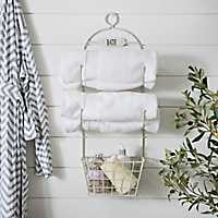 White Metal Bath Organizer