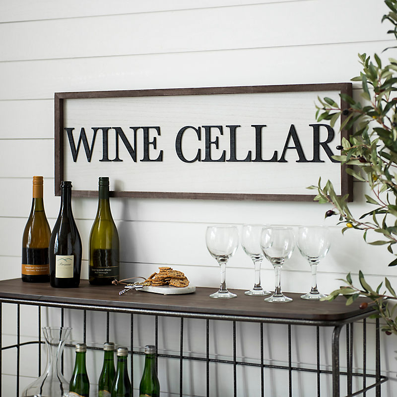 Wooden Wine Cellar Wall Plaque