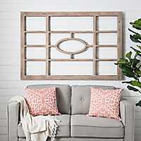 Kirstie Natural Wood Windowpane Wall Plaque