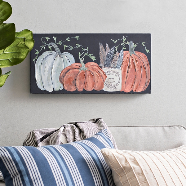 Fall Pumpkin Garden Canvas Print