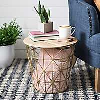 Small Metallic Nested Basket Table