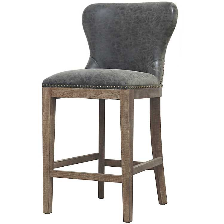 Magnificent Gray Devon Faux Leather Counter Stool Cjindustries Chair Design For Home Cjindustriesco