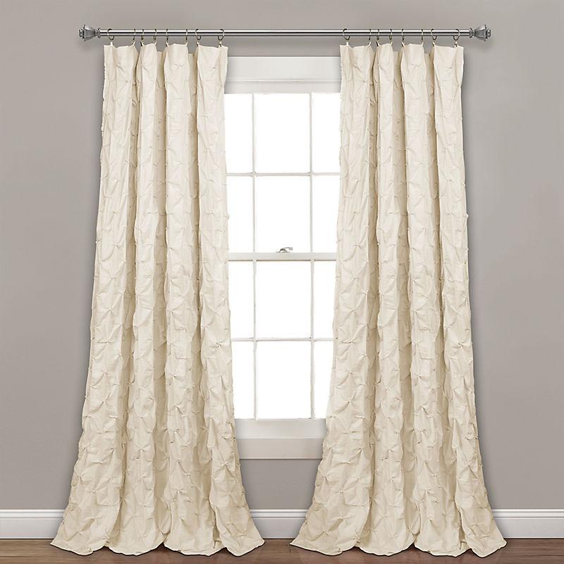 Ivory Ravello Pintuck Curtain Panel