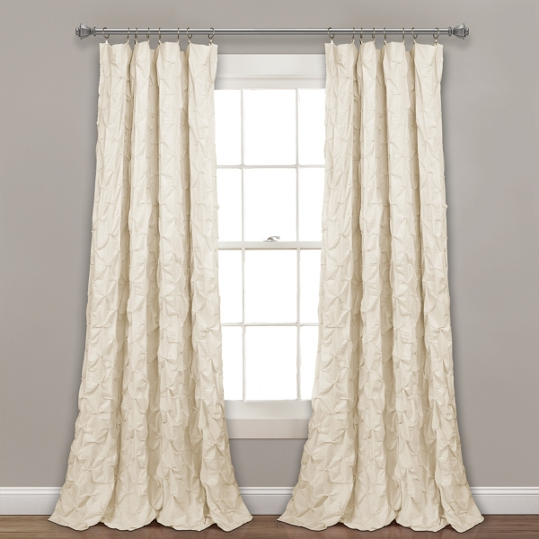 Ivory Ravello Pintuck Curtain Panel