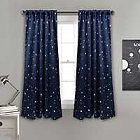 Navy Star Blackout Curtain Panel Set