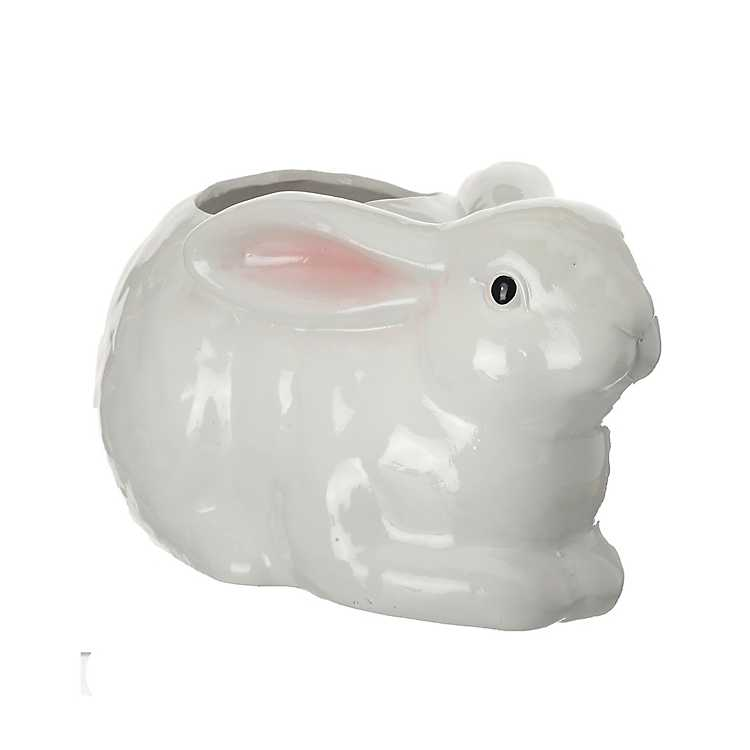 White Easter Bunny Planter Kirklands