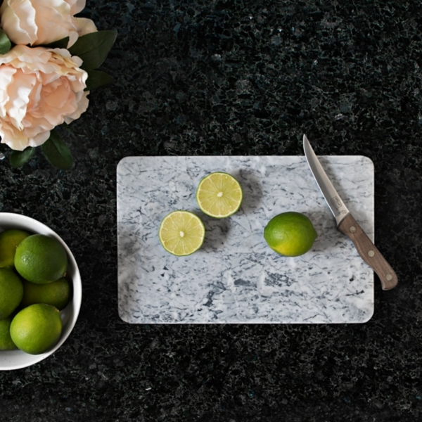 Gray and White Marble Cutting Board