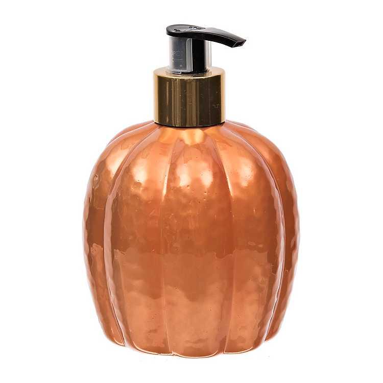 Molded Pumpkin Fall Hand Soap Dispenser