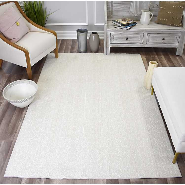 Paloma Lace High Low Area Rug 5x7