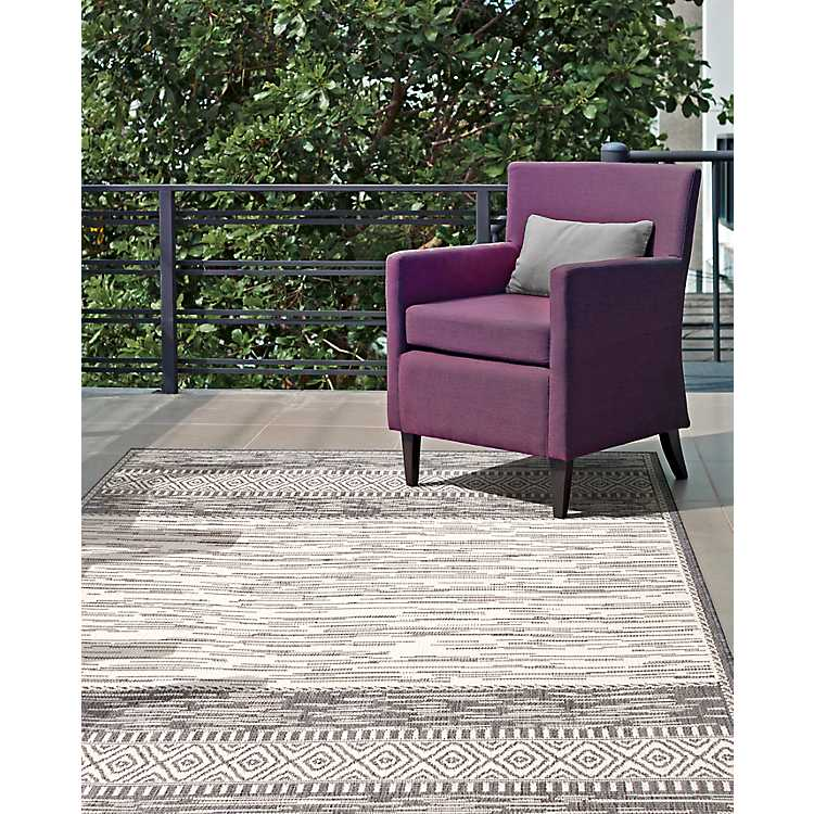 Lana Stripe Outdoor Rug, 5x8 | Kirklands