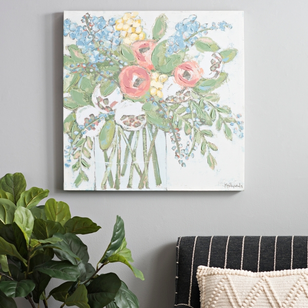 Fresh Pastel Bouquet Canvas Art Print