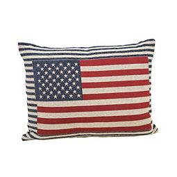 Patriotic Flag Striped Accent Pillow