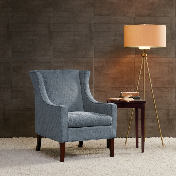 Surprising Blue Presley Wingback Accent Chair Kirklands Gamerscity Chair Design For Home Gamerscityorg