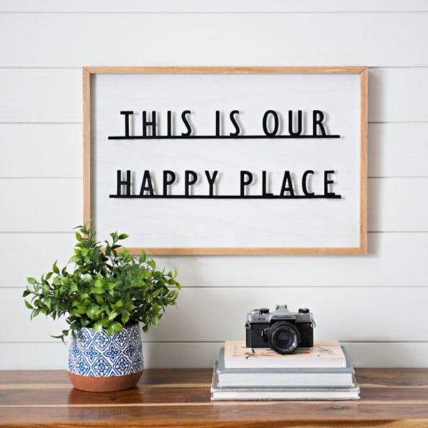 This Is Our Happy Place Popped Plaque