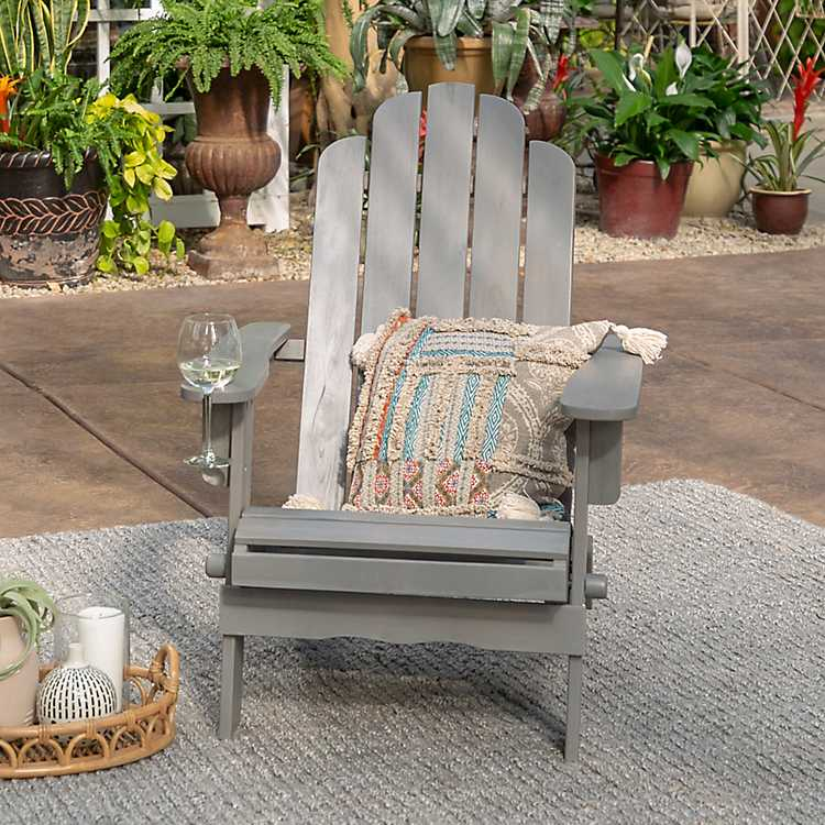 Admirable Gray Wash Wood Adirondack Chair Gamerscity Chair Design For Home Gamerscityorg